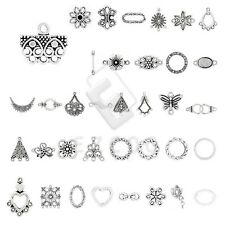 10-300pcs Tibetan Silver Pendant Charm Links Connector DIY Jewelry Findings HC