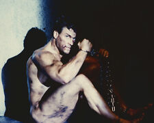 Jean-claude Van Damme Naked Sitting on Ground Chained Up Poster or Photo
