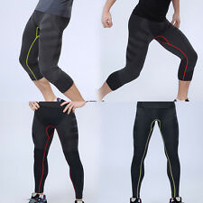Mens Thermal Compression Under Base Layer Shorts Pants Tight Bottoms Jogger Gym