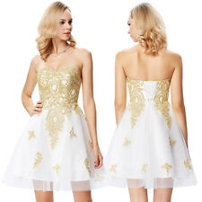 Formal Mini Prom Homecoming Dresses Evening Bridesmaid Cocktail Party Ball Gown