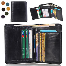 Men's Genuine Leather Wallet ID Card holder Bifold Coin Purse Pocket Money Clip