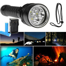 New 5000/10000LM 3x T6 LED Underwater  Scuba Diving Flashlight Torch 18650 Lamp