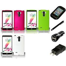 For LG G Stylo Matte Snap-On Hard Phone Case Cover Charger Stylus