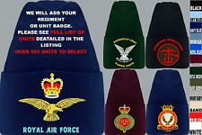 UNITS R-R1 UK & FOREIGN ARMY ROYAL AIR FORCE NAVY RAF REGIMENT BEANIE WOOLLY HAT