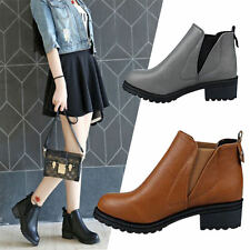 Women's Ladies  Ankle Boots Low Heels Fashion Boots Autumn Winter Boots Shoes