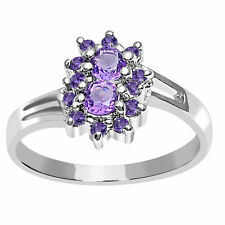 Orchid Jewelry 925 Sterling Silver 1 Carat Amethyst Fashion Ring