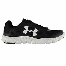 Under Armour Micro Engage 2 Running Shoes Mens Blk/Wht Sports Trainers Sneakers