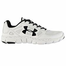 Under Armour Micro Engage 2 Running Shoes Mens Wht/Blk Sports Trainers Sneakers