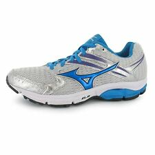 Mizuno Wave Valiant Running Shoes Womens Silv/Blue Trainers Sneakers Sports Shoe