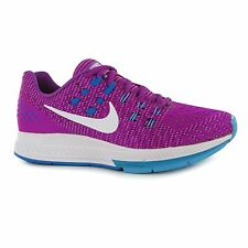 Nike Zoom Structure Running Shoes Womens Violt/Wht Trainers Sneakers Sports Shoe