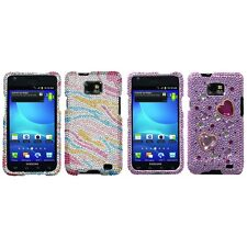 For Samsung Galaxy S2 i9100 Diamond Diamante Bling Rhinestone Case Cover