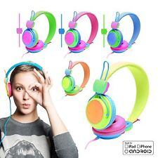 NEON Kids Childrens Lightweight Headphones Earphones for iPad iPhone MP3