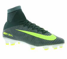 NEW NIKE Mercurial Superfly V CR7 FG Shoes Men's Football Shoes Grey 852511 376