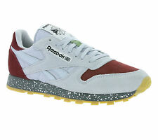 NEW Reebok Classic Leather SM Shoes Men's Sneakers Trainers Grey AQ9772 Sports