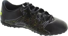 Adidas X 15.4 Tf Men's Black And Yellow Lace Up Astroturf Football Boots New