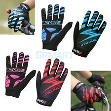 Pair Full Finger Cycling Gloves w/ Gel Pad for Mountain Bike Bicycle Motorcycle