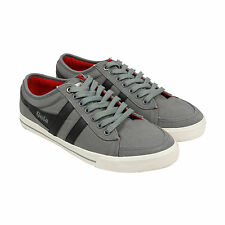 Gola Comet Mens Grey Canvas Lace Up Trainers Shoes