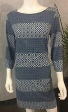 Banana Republic-Womens Shift Dress-NEW-SILKY- Stretch Geo Print-MSRP-$79
