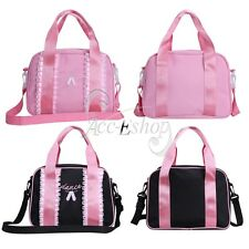 Fashion Girls Gymnastics Ballet Barre Shoulder Duffle Lace Dance Tote Handbag
