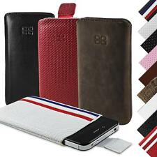 iPhone 4S 4 Hülle REAL LEATHER Pouch Case Mobile Bouletta Partaw