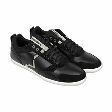 Diesel S-Tage Mens Black Leather Lace Up Sneakers Shoes