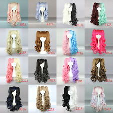 16 Color Fashion Lolita Womens Long Curly Ponytail Cosplay Synthetic Party Wig