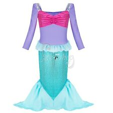 Kids Mermaid Sea Princess Girls Fancy Dress Up Cosplay Party Halloween Costume