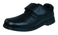 Hush Puppies Arrow Snr Boys Leather Shoes - Black