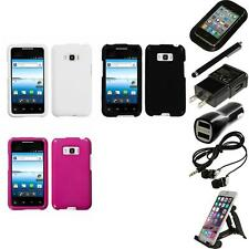 For LG Optimus Elite LS696 Rigid Plastic Hard Snap-On Case Cover Accessories