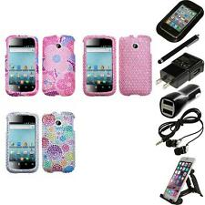 For Huawei Ascend 2 M865 Diamond Diamante Bling Rhinestone Case Cover Bundle