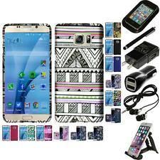 For Samsung Galaxy S7 Snap-On Design Rubberized Hard Phone Case Cover Bundle