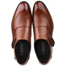 Mens dress formal business shoes pull on loafer wedding oxford shoes US11 sz