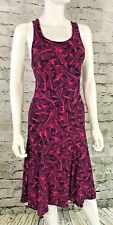 Banana Republic-Womens Sundress NEW-Silky Pink & Navy Blue Floral Print-MSRP-$79