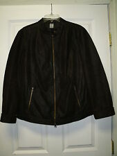 Dark Brown, Womens, Ladies Genuine Leather Bomber Style Jacket Coat Size L