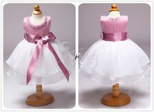 Wedding Pageant Flower Baby Girls Kids Princess Birthday Party Formal Tutu Dress