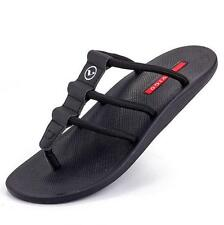 Mens thongs flat flip flop slipper strappy summer beach sandals soft shoes new
