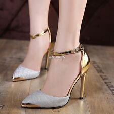 Fashion Glitter Sequin Pointed Toe Stiletto High Heel Pumps N4U8