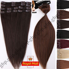 AAA+ Full Head Clip in Remy Human Hair Extensions 8 Pieces Straight Blonde A241