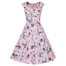 Summer Womens 1950s Vintage Floral Style Rockabilly Cocktail Party Swing Dresses