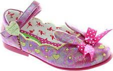 Irregular Choice Bunny Girls Metallic Pink Pumps With 3d Rabbit Ears And Bow New