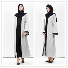 Ramadan Muslim Abaya Women Open Cardigan Kaftan Islamic Abaya Long Maxi Dress