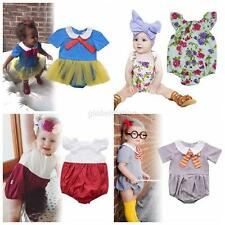 0-24M Baby Boy Girl Cartoon Floral Romper Bodysuit Jumpsuit Party Outfit Clothes