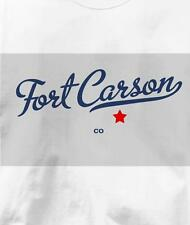 Fort Carson, Colorado CO MAP Souvenir T Shirt All Sizes & Colors