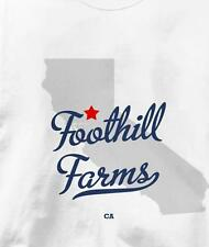 Foothill Farms, California CA MAP Souvenir T Shirt All Sizes & Colors
