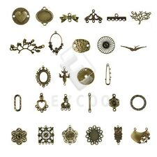 3-100pcs Antitue Brass Metal Links Connector Charm Jewelry Findings 27 Style HC