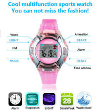 Childrens Unisex Silicone Rubber Buckle Wrist Pop Watch For Boys Girls Kids Gift