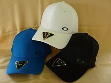 NEW OAKLEY SILICON ELLIPSE CAP HAT FLEX FIT S/M L/XL 911550  BLACK BLUE WHITE