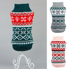 Pet Dog Snowflower Warm Sweater Clothes Puppy Cat Knitted Coat Apparel Costumes