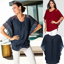 Women's V-Neck Batwing Short Sleeve Loose Casual Tops Tee Shirt Blouse T-Shirt