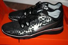 NEW WOMEN'S NIKE FREE 5.0 TR FIT 5 MTLC 806277 001 BLACK SILVER RUNNING SHOES
